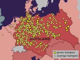 Concentratiekampen Kaart